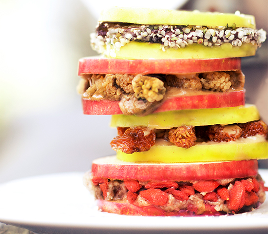 Superfood Apple Sandwiches