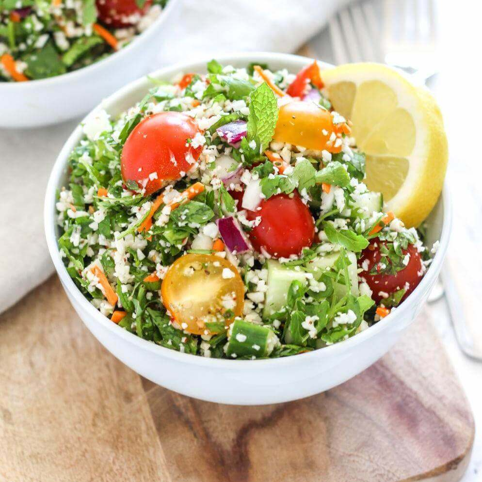 Hemp Cauliflower Rice Tabbouleh