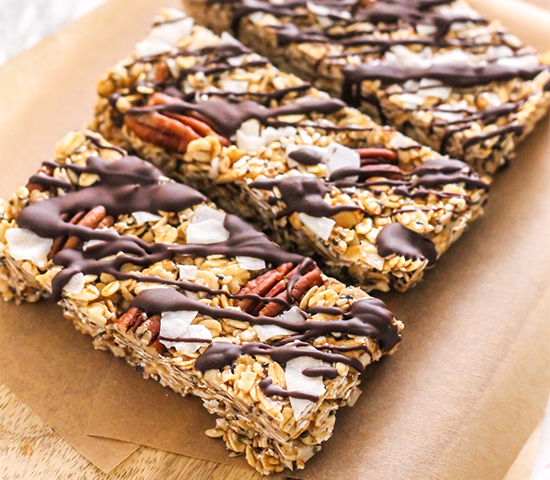 Maca Cashew Coconut Trail Mix Bars