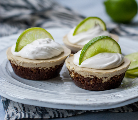 Cashew Coconut Key Lime Pies