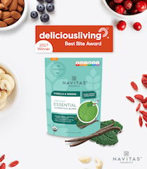 Delicious Living Navitas Organics Wins Best Smoothie