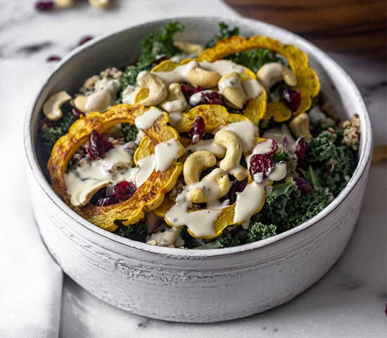 Kale Salad with Roasted Squash