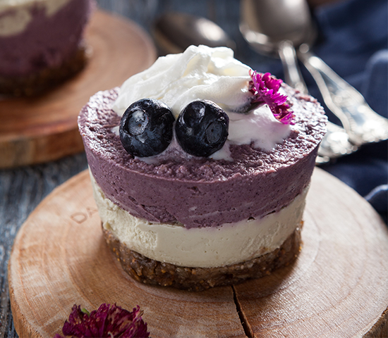 Blueberry Maqui Cheesecake